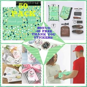 50pcs poly mailers +25 FREE Stickers! THAN…